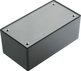 Фото 1/3 G1032BA, Корпус для РЭА 101х54х41.7мм, пластик, черный, алюминиевая панель