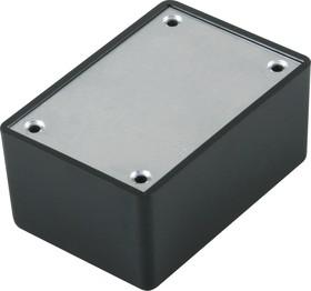 Фото 1/3 G1031BA, Корпус для РЭА 64х44х29.9мм, пластик, черный, алюминиевая панель