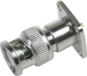 HYR-0120 (GB-120) (BNC-7016), Разъем BNC, штекер, фланец 4 отверстия (Panel jack)