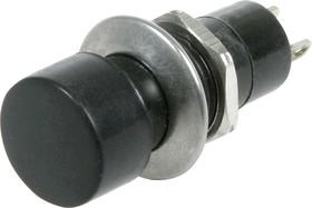 Фото 1/2 B161A (PSW2), Кнопка черная с фиксацией (250В 1А)