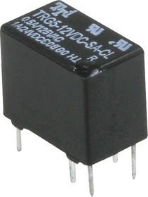 TRG5-12VDC-SA-CL-R, Реле сигнальное 12VDC / 0.5A 125VAC , 1 переключающий контакт