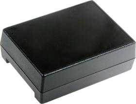 Фото 1/3 G1202B(BC), Корпус для РЭА 111х82.5х38мм, пластик, черный с батарейным отсеком