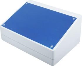 Фото 1/2 G1500, Корпус для РЭА 220х156х100/52мм, пластик, светло-серый, алюминиевая панель
