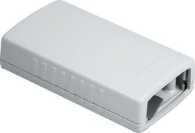 G431A, Корпус для РЭА 90х50х24мм, пластик, светло-серый, алюминиевая панель