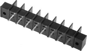 Фото 1/2 X977T08 (DG25C-A-08P), Клеммник шаг 7.62мм с отверстием 8-контактный