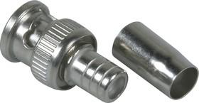 HYR-0114C (GB-114C) (BNC-7002), Разъем BNC, штекер, RG-6, QUICK обжим (Crimp)