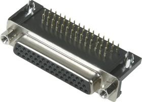 Фото 1/2 DHR-44F (DS1038-44F), Гнездо 44 pin высокой плотности на плату