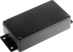 B013MFBK, Корпус для РЭА 114x64x30мм, металл, с крепежным фланцем, черный