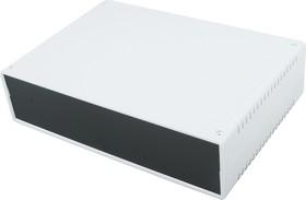Фото 1/4 G758, Корпус для РЭА 260х180х65 мм, пластик, светло-серый, черная панель