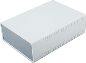 G767, Корпус для РЭА 140х190х60 мм, пластик, светло-серый, темно-серая панель