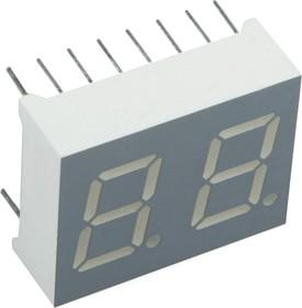 DA56-11GWA, Индикатор 14.2мм 2х7зл.ОА, 10.5мКд