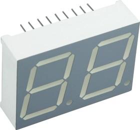 DA08-11GWA, Индикатор зеленый ОА, 20.3мм 2х7, 10.5мКд