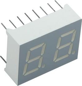 DA04-11SRWA, Индикатор красный ОА, 18мКд 10мм 2х7
