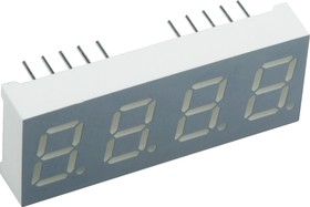 CA04-41SRWA, Индикатор 10.16мм 4х7 красный ОА, 18мКд