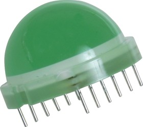 Фото 1/3 DLA/6SGD, LED Uni-Color Green 565nm 12-Pin Tube