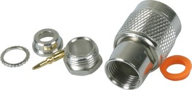 HYR-0201B (GT-201B) (TNC-7406B) (TNC-S59P), Разъем TNC, штекер, RG-59, зажим (Clamp)