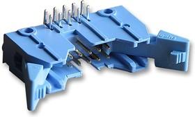 Фото 1/2 2-5499141-1, Разъем типа провод-плата, угловой, 2.54 мм, 10 контакт(-ов), Штыревой Разъем, Серия AMP-LATCH