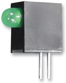 Фото 1/2 L-710A8EW/1GD, Светодиод, Зеленый, Сквозное Отверстие, T-1 (3mm), 20 мА, 2.2 В, 568 нм