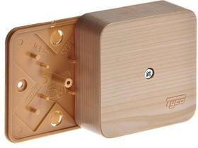 Фото 1/2 Коробка распределительная ОП 79х79х32мм IP40 сосна (светл. основа) Ruvinil 65004-27М