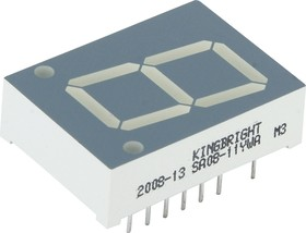 SA08-11YWA, Индикатор желтый ОА, 20.32мм, 7х1, 4.7мКд