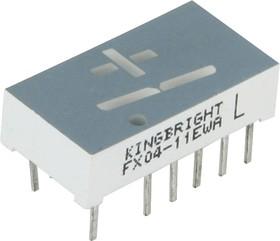 Фото 1/2 FX04-11EWA, светодиодный индикатор красный 10.16мм унив 9000