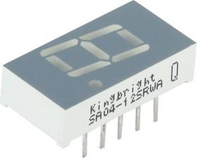 SA04-12SRWA, Индикатор 10.16мм, 7х1 красный ОА, 18мКд