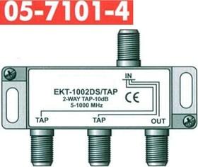 05-7101 (EKT-1002DS), Ответвитель антенный на 2ТВ, проходной