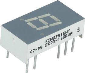 SC03-12SRWA (SCO3-12SURKWA), Индикатор 7мм, 7х1 красный ОК, 26мКд
