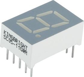SC05-11GWA, Индикатор зеленый ОК 12.7мм, 7х1, 10.5мКд