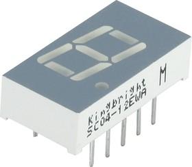SC04-12EWA, Индикатор 10.16мм, 7х1 красный ОК, 8мКд