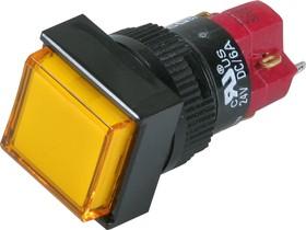 D16LMS1-1abHY, Кнопка с LED подсветкой 250В/5А
