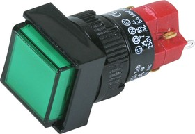 Фото 1/2 D16LMS1-1ab0G (без лампы), Кнопка без фиксации (5A 250VAC), без подсветки
