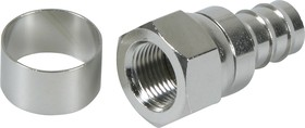 HYR-0801E (GF-801) (F-7201E), Разъем F, штекер, RG-213, обжим (Crimp)