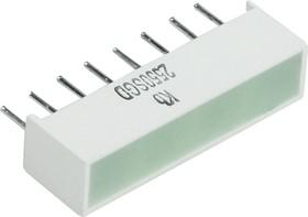 KB-2550SGD, Световая полоса зеленая 20x5мм 70мКд