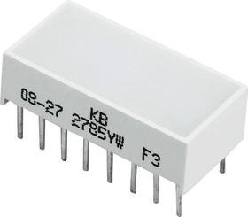 KB-2785YW, Полоса световая желтая 20x10мм 50мКд