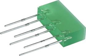 L-845/3GDT, Световая полоса зеленая 5х16мм 10мКд