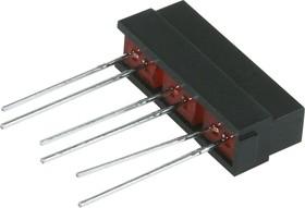 Фото 1/2 L-132CB/3ID (L-133CB/3ID), Шкала 3 сегм. красная 21х4.8мм