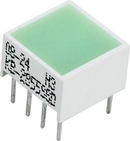 KB-2855SGD, Световая полоса зеленая 10x10мм 80мКд