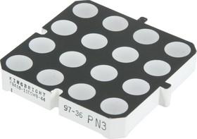 TBA18-11EGWB-44, Матрица светодиодная 4х4 красная/зеленая 48мм