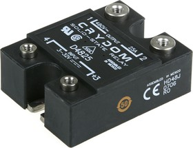 Фото 1/2 D4825, Реле 3-32VDC, 25A/480VAC