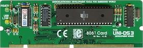 MIKROE-185, UNI-DS3 40 pin 8051 card option, Дочерний модуль с установленным МК AT89S8253