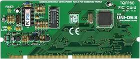 MIKROE-181, UNI-DS3 80 pin PIC card option, Дочерний модуль с установленным МК PIC18F8520