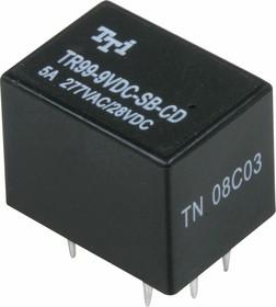 TR99-9VDC-SB-CD, Реле 2пер. 9V / 5A, 28VDC
