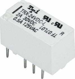 TRX(TRQ2)-24VDC-L-R, Реле 2пер. 24V / 1A, 250VAC бистабильное