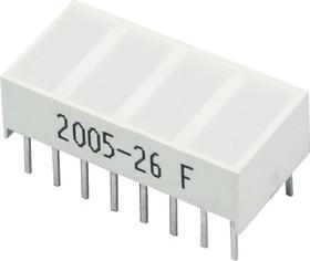 KB-2620EW, Световая полоса 4 сегм. красная 20x10мм 50мКд