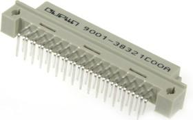DIN41612R (DS1118-32F-R23), Розетка 16х2 ряд АВ угловая 90°