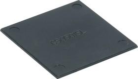 G505015L, Крышка для корпуса 50х50мм, пластик, черный