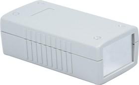 G438A, Корпус для РЭА 120х60х40мм, пластик, светло-серый, алюминиевая панель
