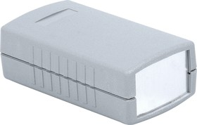 G404A, Корпус для РЭА 90х50х32мм, пластик, темно-серый, алюминиевая панель