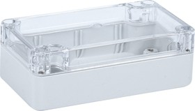 Фото 1/3 G203C, Корпус для РЭА, пластик, с прозрачной крышкой